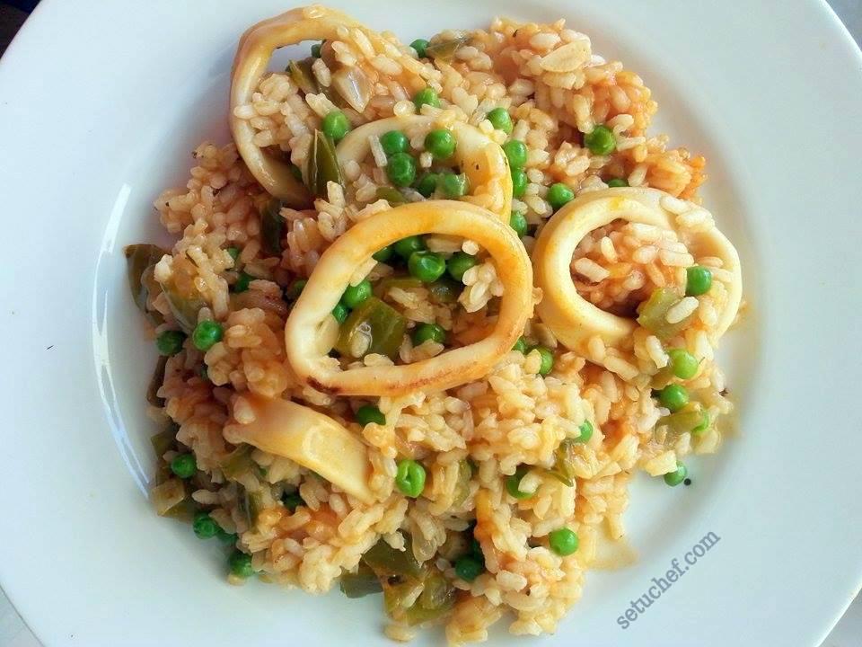 El arroz de calamares perfecto. Receta.