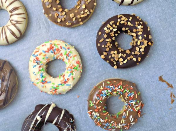 Donuts de yogur griego + Aniversario 1 año de blog